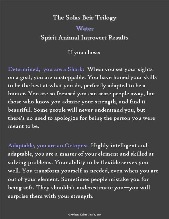 Spirit Animal Water Introvert Result