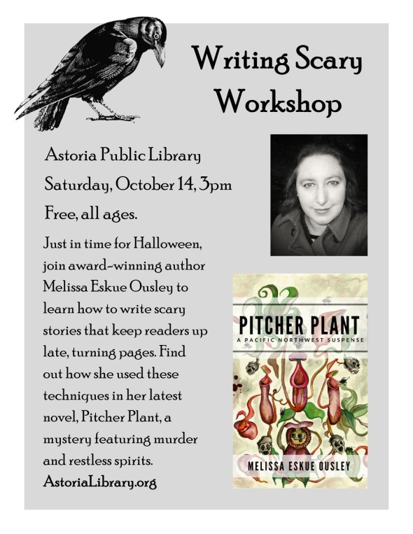Astoria Library Writing Scary Workshop Poster